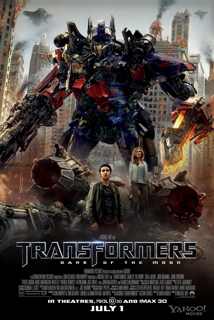transformers dark of the moon optimus prime poster. featuring Optimus Prime,