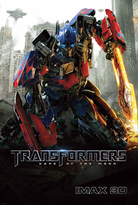 transformers dark of the moon optimus prime poster. Here is a cool new poster for