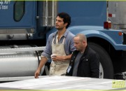 EXCLUSIVE: Henry Cavill is a short order cook on the set of 'Superman: Man of Steel'